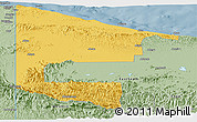 Savanna Style Panoramic Map of West Sepik