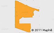 Political Simple Map of West Sepik, cropped outside