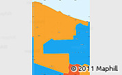 Political Simple Map of West Sepik
