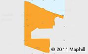 Political Simple Map of West Sepik, single color outside