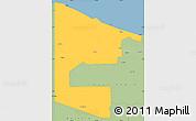 Savanna Style Simple Map of West Sepik