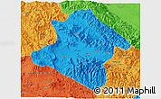 Political 3D Map of Western Highlands
