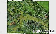 Satellite 3D Map of Western Highlands