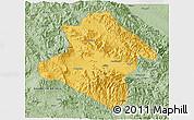 Savanna Style 3D Map of Western Highlands