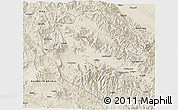Shaded Relief 3D Map of Western Highlands