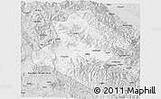Silver Style 3D Map of Western Highlands