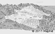 Gray Panoramic Map of Western Highlands