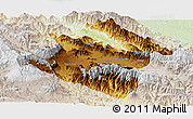 Physical Panoramic Map of Western Highlands, lighten