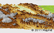 Physical Panoramic Map of Western Highlands
