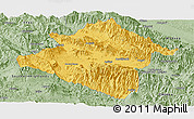 Savanna Style Panoramic Map of Western Highlands