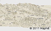 Shaded Relief Panoramic Map of Western Highlands