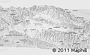 Silver Style Panoramic Map of Western Highlands