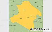 Savanna Style Simple Map of Western Highlands