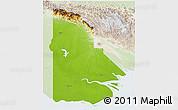 Physical 3D Map of Western, lighten
