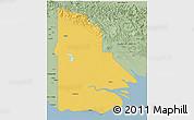 Savanna Style 3D Map of Western