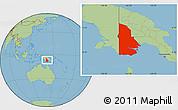 Savanna Style Location Map of Western