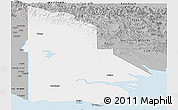 Gray Panoramic Map of Western