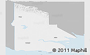 Gray Panoramic Map of Western, single color outside