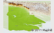 Physical Panoramic Map of Western, lighten