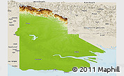 Physical Panoramic Map of Western, shaded relief outside