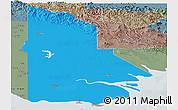 Political Panoramic Map of Western, semi-desaturated