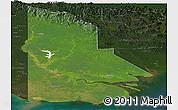 Satellite Panoramic Map of Western, darken