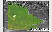 Satellite Panoramic Map of Western, desaturated
