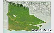 Satellite Panoramic Map of Western, lighten