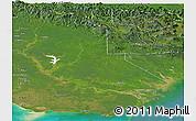 Satellite Panoramic Map of Western
