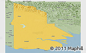 Savanna Style Panoramic Map of Western