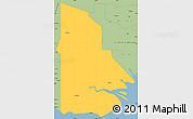 Savanna Style Simple Map of Western