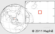 Blank Location Map of Paracel Islands