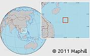 Gray Location Map of Paracel Islands