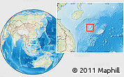 Physical Location Map of Paracel Islands, lighten, land only