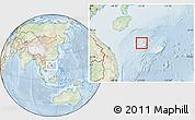 Physical Location Map of Paracel Islands, lighten