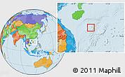 Political Location Map of Paracel Islands