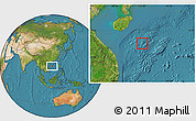 Satellite Location Map of Paracel Islands