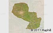 Satellite 3D Map of Paraguay, lighten