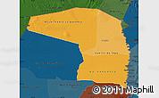 Political Shades Map of Alto Paraguay, darken