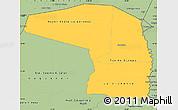 Savanna Style Simple Map of Alto Paraguay