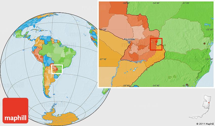 Political Location Map of Ciudad Del Este