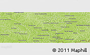 Physical Panoramic Map of Hernandarias