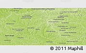 Physical Panoramic Map of Itakyry