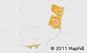 Political Shades Map of Alto Parana, cropped outside
