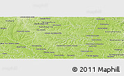 Physical Panoramic Map of Mbaracayu