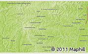 Physical 3D Map of Minga Pora