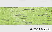 Physical Panoramic Map of Minga Pora
