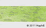 Physical Panoramic Map of Nacunday