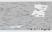 Gray Panoramic Map of Alto Parana