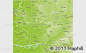 Physical 3D Map of Rio Alto Parana